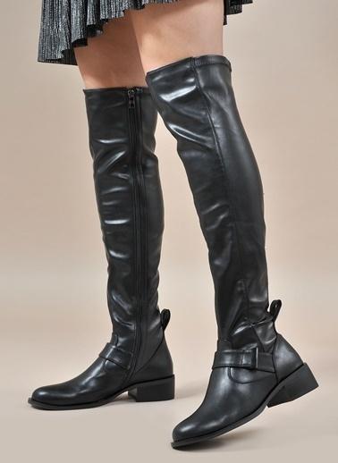 Vizon Ayakkabı Çizme Siyah